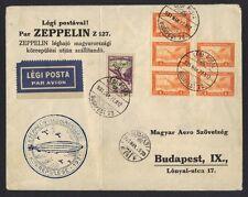 HUNGARY 1931 ZEPPELIN ON LZ 27 BUDPEST CVR FRANKED 2p ZEPPELIN STAMP & 5 4 HEUER