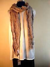 100% linen crinkled scarf  Stone  John Lewis brand  NEW
