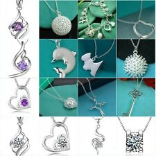 Wholesale Lady /Women's Solid 925 Sterling silver Pendant necklace jewelry Gift