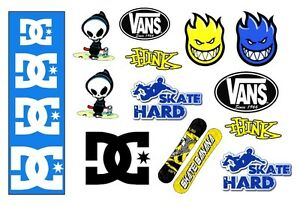 Edible SKATEBOARD THEMED Boys Icing Sheet Cake toppers Fab for Boys cakes NEW