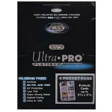100 ULTRA PRO PLATINUM 8-POCKET 2 3/4 x 3 7/8 Pages Sheets Protectors Brand New