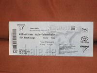 Kölner Haie Adler Mannheim KEC MERC Play Off 2014 Eintrittskarte Ticket Lounge €