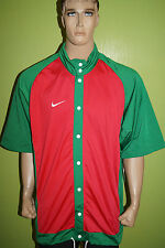 Nike Team Sports Maillot Chemise Veste Manches Courtes Taille LT années 90 ans