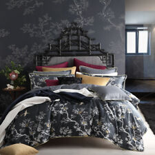 Florence Broadhurst The Cranes Charcoal King Doona Duvet Quilt Cover Set