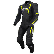 Armr Harada S Motorcycle Motorbike Leather 1 One Piece Suit - Black / Yellow