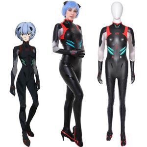 3.0 EVA Rei Ayanami Cosplay Black Bodysuit Jumpsuit Costume