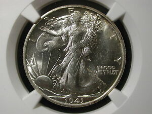 1941-S Walking Liberty Half Dollar 50C NGC Certified MS 64 San Francisco
