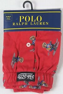Ralph Lauren Red Classic Fit Boxer Shorts Multi Polo Teddy Bears NWT