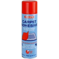 NEW Evo-Stik Carpet Adhesive 500ml, adjustable nozzle, re-fixe loose carpet DIY