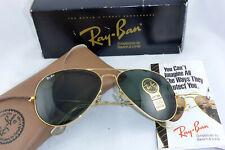 Neu! NOS! Vintage Ray Ban USA B&L Aviator L 2846 G15 Lenses 62 14  mit Box+ Etui