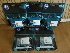 GENUINE NEW HP 60 Black and Tri-Color Ink Cartridge 3-Pack