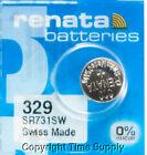 1 pcs Renata 329 Watch Batteries SR731SW SR731 0 MERCURY