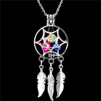 Fashion Dream Catcher Pearl Cage Floating Locket Necklace NO Akoya Oyster Pearl