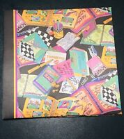 Vtg 1990's Nicole Miller Gibson Large Satin 16 pages Scrapbook Photo Album USED