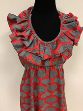 Judith March Black Red Ruffled Collar Tie Back Dress Pinup Anthropologie Size S