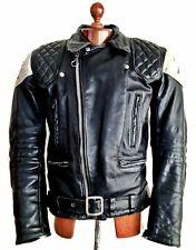 Vtg 70s TT LEATHER Motorcycle Biker Cafe Racer Brando Bike Perfecto Jacket Coat