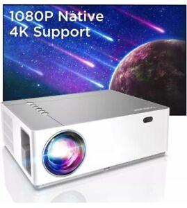 Bomaker 4K Beamer Full HD - LCD LED Projektor - 7200 Lumen - Native 1920x1080P