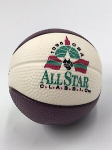 Vintage Spalding 1995 CBA All Star Classic Basketball Stress Ball Rubber EUC