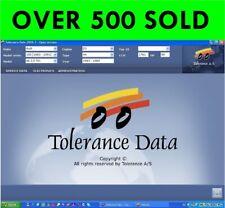 TOLERANCE DATA 2009.2 WORKSHOP MANUAL ( DOWNLOAD VERSION)