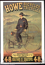 carte postale publicitaire . bicyclette . tricycle