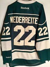 Reebok Premier NHL Jersey Minnesota Wild Nino Niederreiter Green sz XL