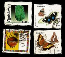 Schmetterlinge Smaragd Butterflies Emerald Local Craft Zimbabwe Afrika Marken