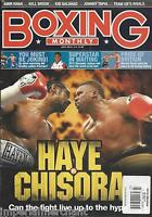 Boxing Monthly Magazine David Haye Dereck Chisora Adam Booth Johnny Tapia 2012