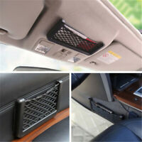 Auto Car Vehicle Storage Mesh Net Resilient String Bag Phone Holder Organizer TR