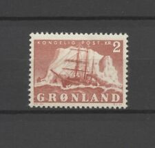"""No: 68726 - GREENLAND (1950) - """"SHIPS"""" - AND OLD 2 KR STAMP - MH!!"""