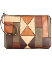 Patricia Nash CASSINI Zigzag Patchwork Wristlet Cosmetic Bag Pouch Purse D5