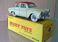 """dinky toys """" simca aronde P60 créme toit rouge avec vitres""""  trés trés rare !!!"""