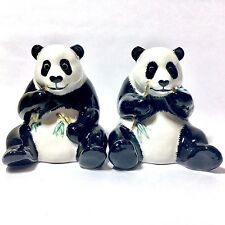 SALT & PEPPER SHAKERS COUPLE PANDA CERAMIC ANIMAL FIGURINE BEAR COLLECTIBLES NEW