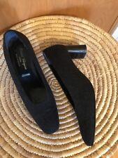 Robert Clergerie Paris France Gray Flannel Shoes Pumps Heels, Sz 9.5