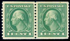Momen: Us Stamps #443 Coil Pair Mint Og Nh Xf-Sup Jumbo