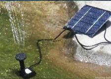 Set Solar Power Fountain Submersible Watering Pump Garden Pond Pool Kit Panel