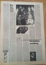 LED ZEPPELIN 'Houses Of Holy album review' Sounds 1973 ARTICLE / clipping