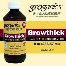 Groganics Growthick Hair Fattening Shampoo DHT Blocker System 236.57ml