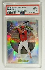 MIKE TROUT 2018 BOWMANS BEST 1998 BEST PERFORMERS #MT PSA 9