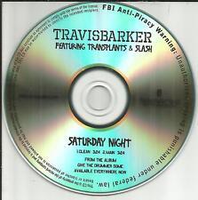 Blink 182 TRAVIS BARKER & SLASH Saturday Night PROMO CD Single GUNS N ROSES 2011