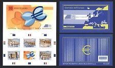 Italien Italy 2009 - 10 Jahre EURO Mitläufer - 3 Markenhefte 3 Booklets 3348-52