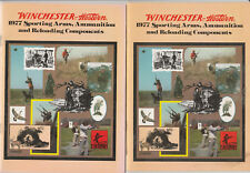 (2) 1977 Catalogs Winchester Western Guns Sporting Arms Ammo Reloading 40 Pages