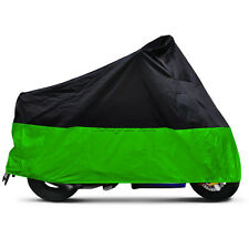 XXXL Black/Green Motorcycle Cover For Harley Electra Glide Classic FLHTC FLHTI
