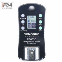 1x Yongnuo Wireless Flash Trigger RF-605 LCD for Canon 1100D 1000D 650D 600D 550