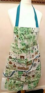 100% Genuine HARRODS London Guide Map PVC Adult Apron Limited Edition