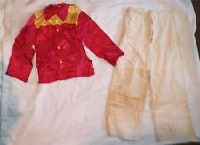 Vintage Cowboy Western Costume Boys Size 10 Red Shirt Button Fly Pants As Is