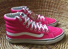 51bd44a028 VANS Sk8-Hi Slim Women s Neon Pink Leather Hi-Tops Trainers UK 4 EU