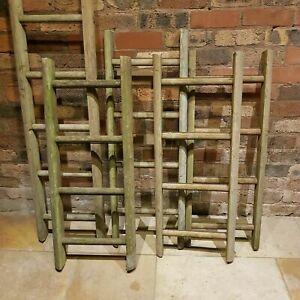 Vintage Reclaimed Wooden Ladders Distressed Grains Display 50cm CM to 800cm