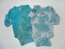 Tie Dye Gerber Baby Onesie Lot Newborn 0-3 Mos Long Sleeve Boy Blue Fire Truck