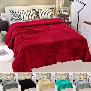 Soft Warm Teddy Bear Fleece Throw Cuddly Sofa Bed Blanket Double King
