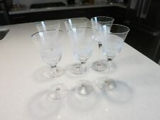 VIETRI LASTRA WINE GLASSES LOT OF 6